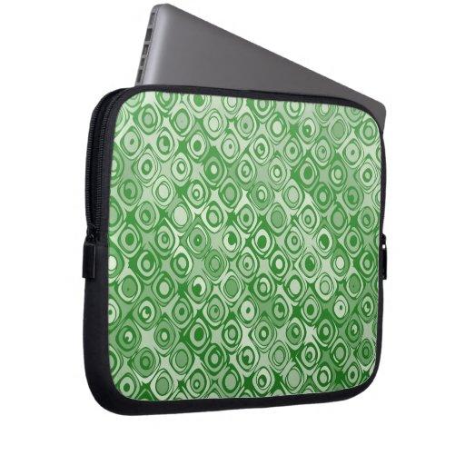 Manga verde abstracta elegante fresca del ordenado fundas portátiles