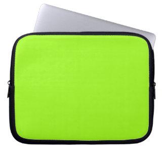 Manga verde chartreuse del ordenador portátil fundas portátiles