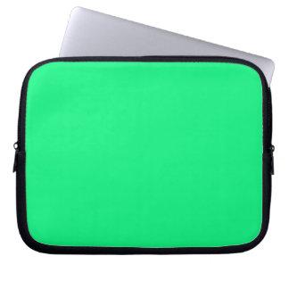 Manga verde clara del ordenador portátil funda computadora