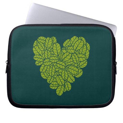Manga verde de la electrónica del corazón mangas portátiles
