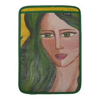 Manga verde del carrito de la diosa funda macbook air