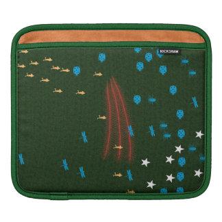 manga verde del carrito del iPad Fundas Para iPads