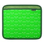 Manga verde del iPad de los palillos de LaCrosse Fundas Para iPads