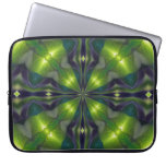 Manga verde del ordenador del fractal de la sinerg fundas portátiles