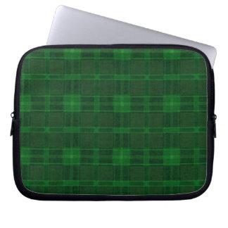 Manga verde del ordenador portátil de la tela fundas ordendadores