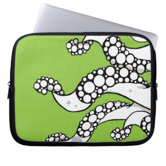 Manga (verde) del ordenador portátil de los tentác fundas ordendadores