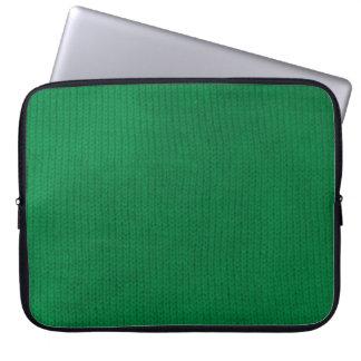 Manga verde del ordenador portátil de Stockinette Funda Portátil