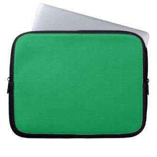 Manga verde media del ordenador portátil funda portátil