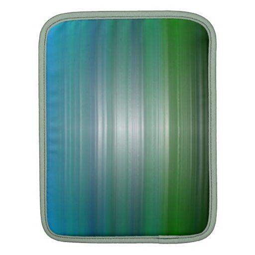 Manga verde y azul del iPad de la plasticidad Fundas Para iPads