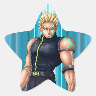 Manga Video Game Hero Star Sticker