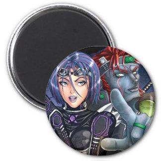 Manga Warriors 2 Inch Round Magnet
