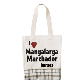 Mangalarga Marchador horses Zazzle HEART Tote Bag