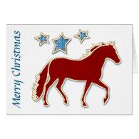 Mangalarga Marchador Stars Merry Christmas Greeting Cards