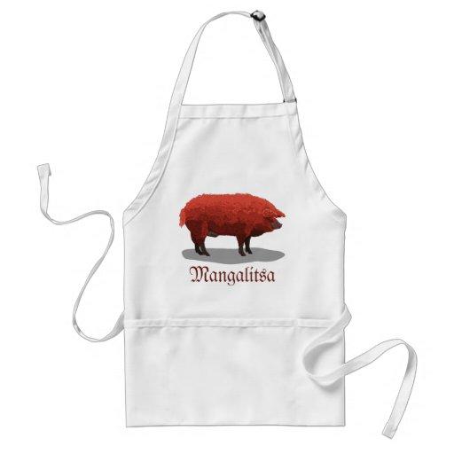 Mangalitsa pig adult apron