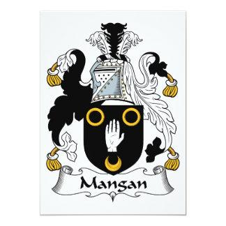 Mangan Family Crest Custom Invite