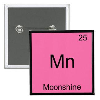 Manganeso - Camiseta divertida del símbolo del ele Pin Cuadrada 5 Cm