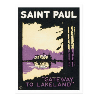 Manganeso de Saint Paul Lakeland del vintage Postales
