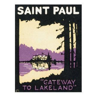 Manganeso de Saint Paul Lakeland del vintage Tarjeta Postal