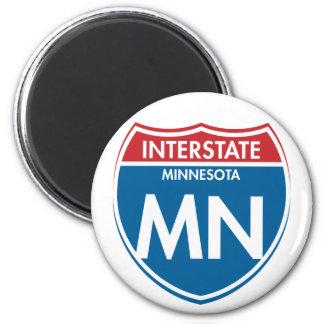 Manganeso de un estado a otro de Minnesota Imán Para Frigorifico