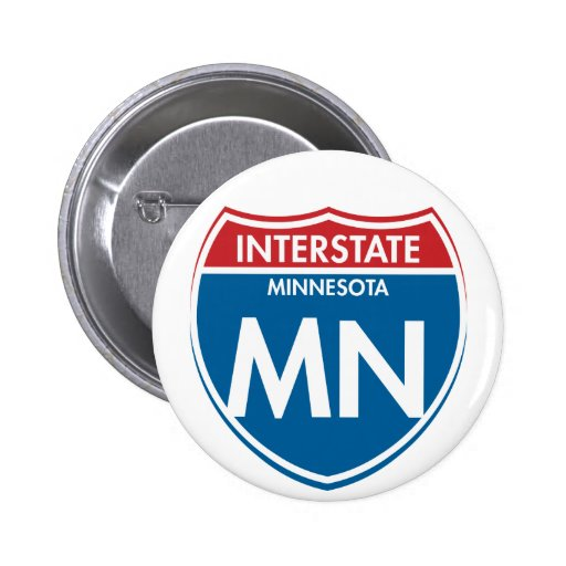 Manganeso de un estado a otro de Minnesota Pin