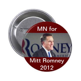Manganeso para el botón político de Mitt Romney 20 Pin Redondo De 2 Pulgadas