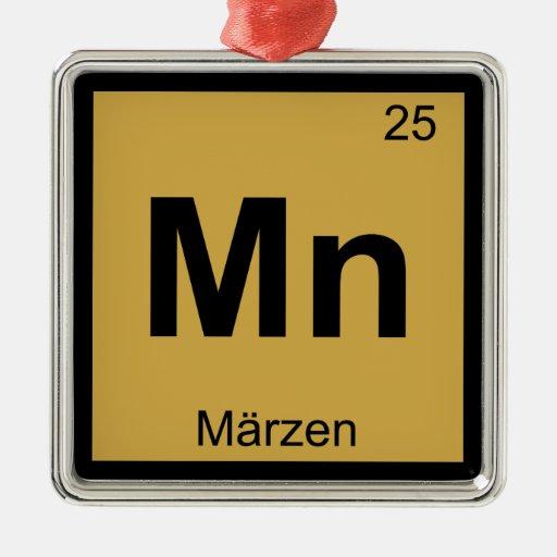Manganeso - Símbolo de la tabla periódica de la qu Adorno