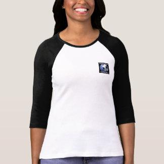 Mangas cabidas señoras de la demostración del fútb camisetas