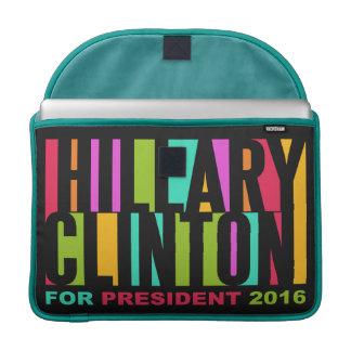 Mangas coloridas 2016 de Hillary Clinton MacBook Fundas Macbook Pro