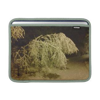 Mangas de aire de Macbook del invierno de la foto Fundas MacBook