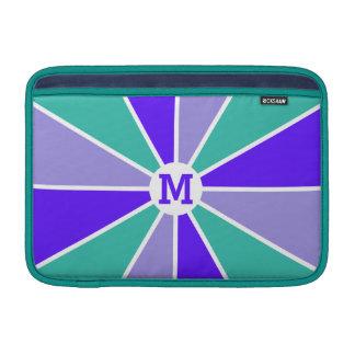 Mangas de encargo del dispositivo del monograma de fundas MacBook
