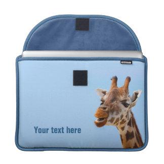 Mangas de MacBook del retrato de la jirafa Fundas Para Macbook Pro