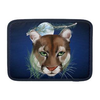 Mangas de medianoche de MacBook del león de montañ Funda MacBook