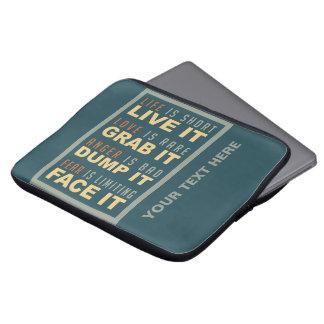 Mangas de motivación del ordenador portátil del co funda ordendadores