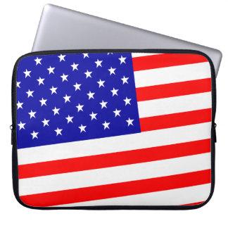 Mangas del ordenador portátil de la bandera de los fundas portátiles