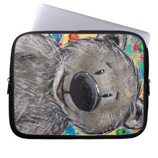 Mangas del ordenador portátil del oso de peluche funda computadora