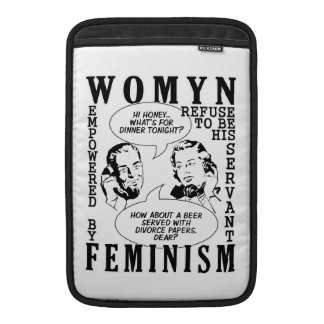 Mangas feministas retras del aire/del iPad de MacB Funda Para Macbook Air