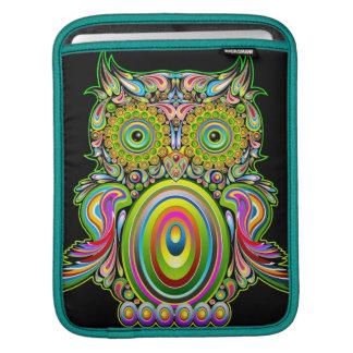 Mangas psicodélicas del iPad del diseño del búho Fundas Para iPads
