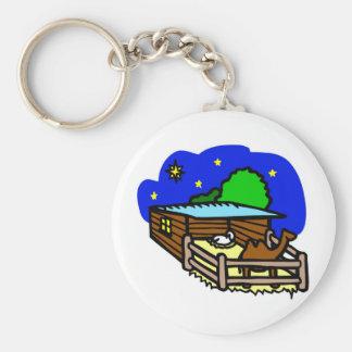 Manger artwork_2 basic round button keychain