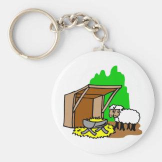 Manger Christian artwork_5 Basic Round Button Keychain