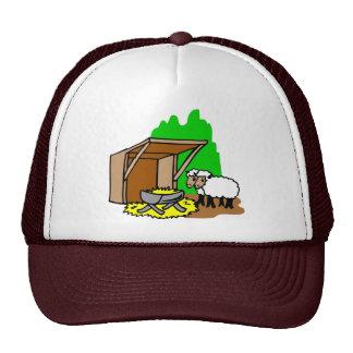 Manger Christian artwork_5 Mesh Hats