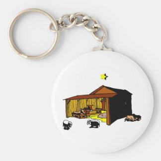Manger Christian artwork_6 Basic Round Button Keychain