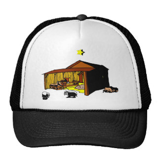 Manger Christian artwork_6 Mesh Hat