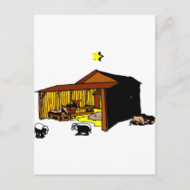 Manger Christian artwork_6 Holiday Postcard