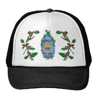 Manger Holly Baby Jesus Christmas Design Trucker Hat