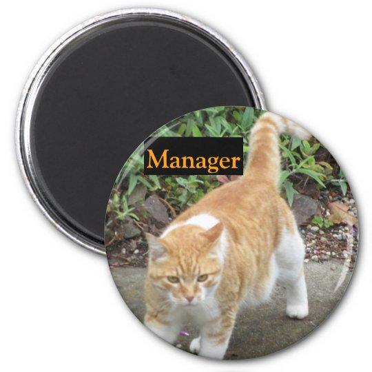 Manger In Orange 2 Inch Round Magnet