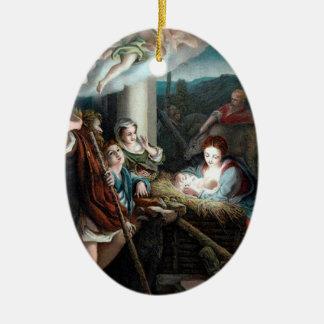 Manger Scene / Belén Christmas Ornament