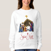 Manger Scene Christmas Sweatshirt or t-shirt