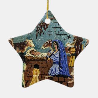 Manger scene christmas ornaments