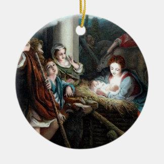 Manger Scene, Round Ornaments