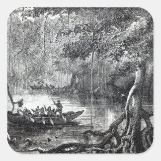Mangle Forest Pegatinas Cuadradas